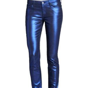 7 For All Mankind Skinny Electric Blue Jeans